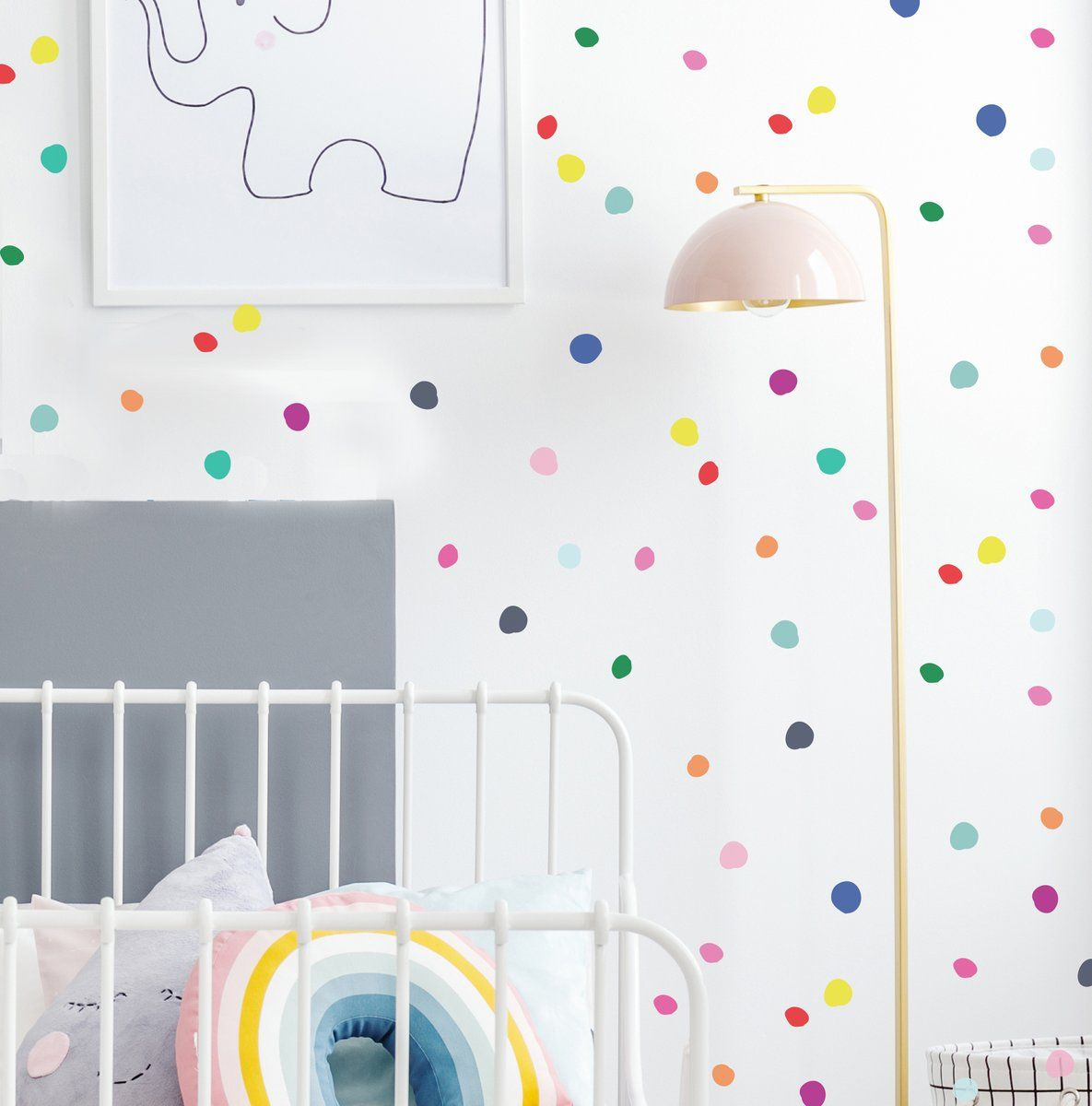 Play Time Tiny Hand Drawn Dots Wall Decal In 2019 Home Kids