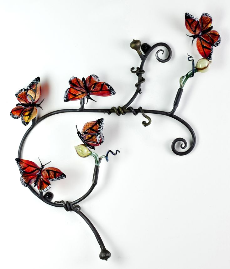 Loy Allen Glass ~ 2012 Wall-mount Metal & Glass Pieces