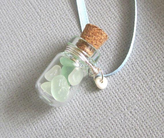 Seaglass Beach in a bottle by GardenLeafDesign on Etsy, $20.00