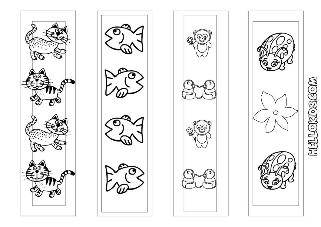 Cute Animal Bookmarks Coloring Page Source Xwa E1347630446995 Jpeg 1060 749 Cute Bookmarks Coloring Bookmarks Printable Diy Crafts