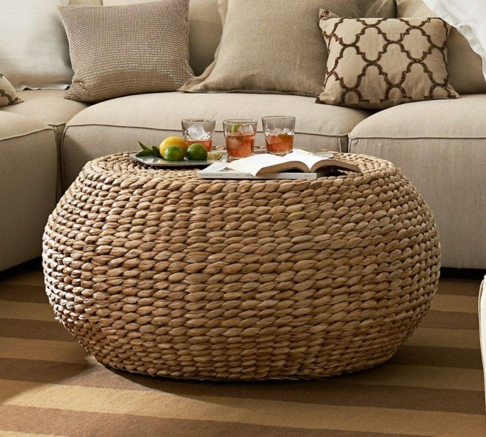 Coffee Table Rattan Wicker Ottoman Coffee Table Small Resin Large