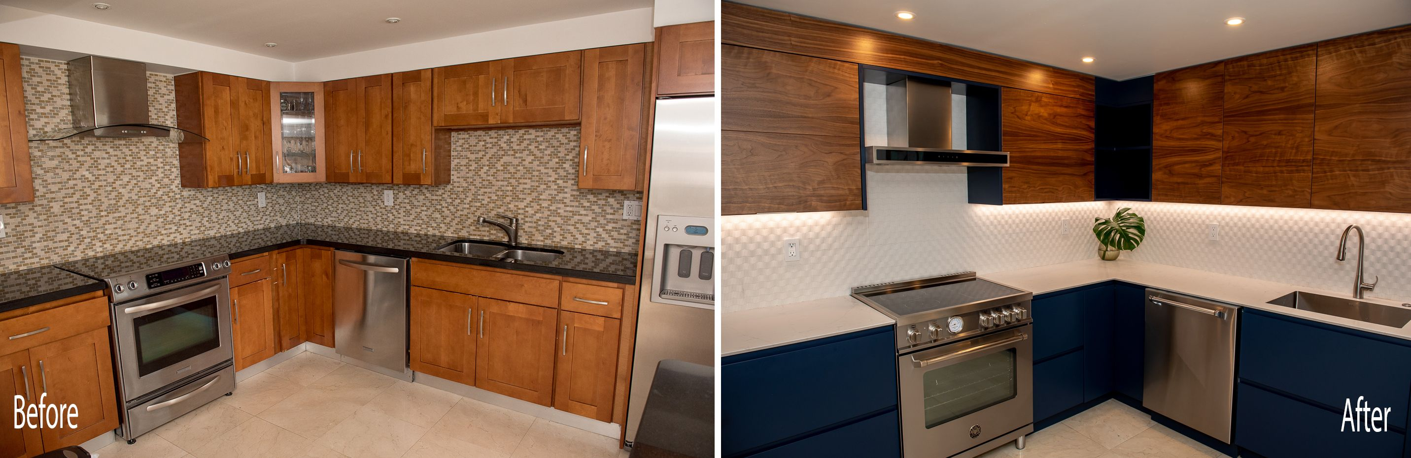 Contemporary Kitchen Remodel Done In A Two Tone Color Contemporary Kitchen Remodel Kitchen Remodel Contemporary Kitchen
