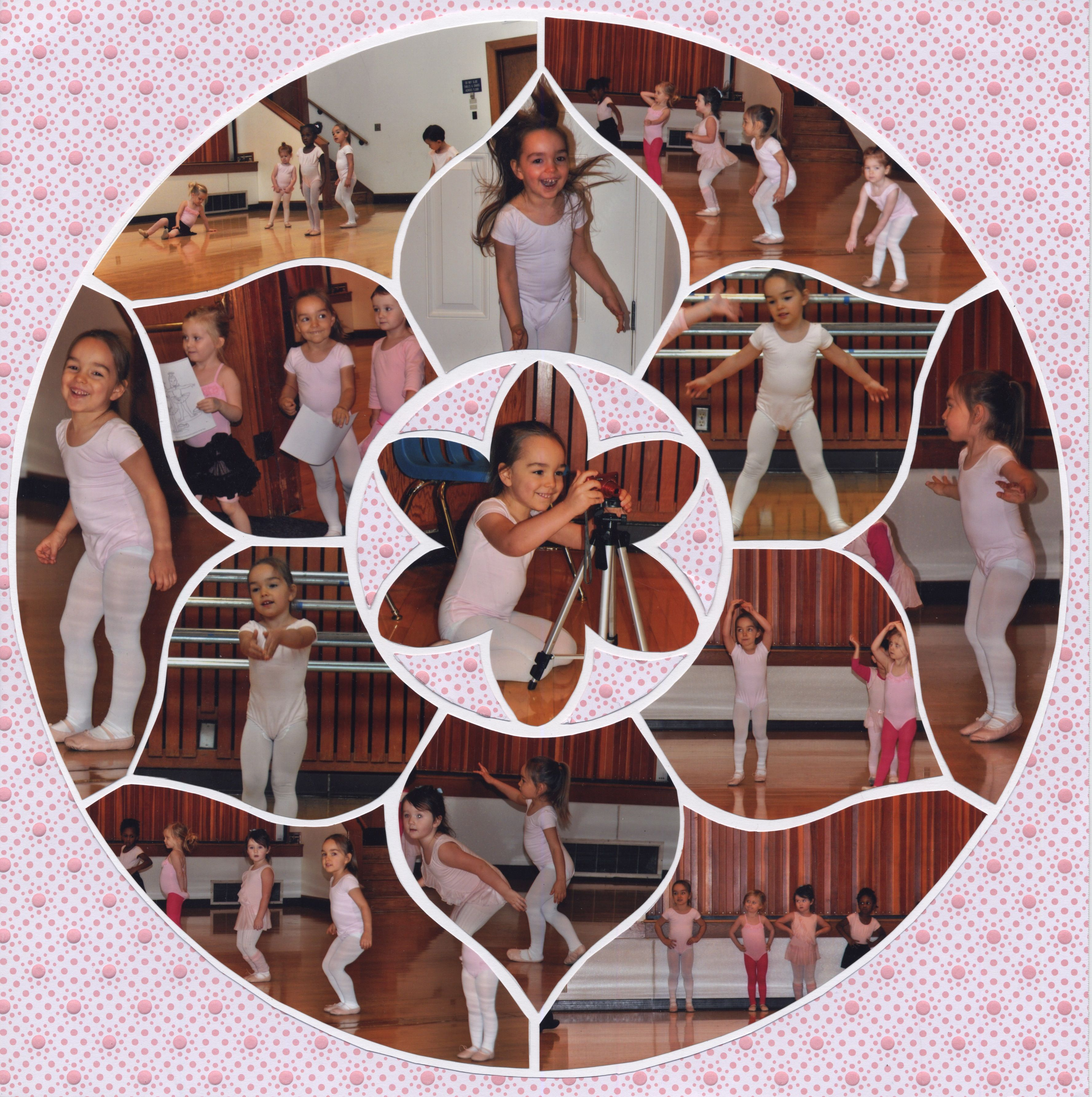 Photo Collage created by Anica, Lea France Designer using Rosette Stencil. #Photos #Collage #Designs #Stencils #PhotoCollage