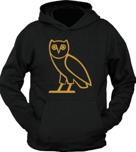 8767ee80bcf3a5 Drake OVO Octobers Very Own Owl OVOXO Black Adult Hoodie sweat Shirt Tatoo  s XXL
