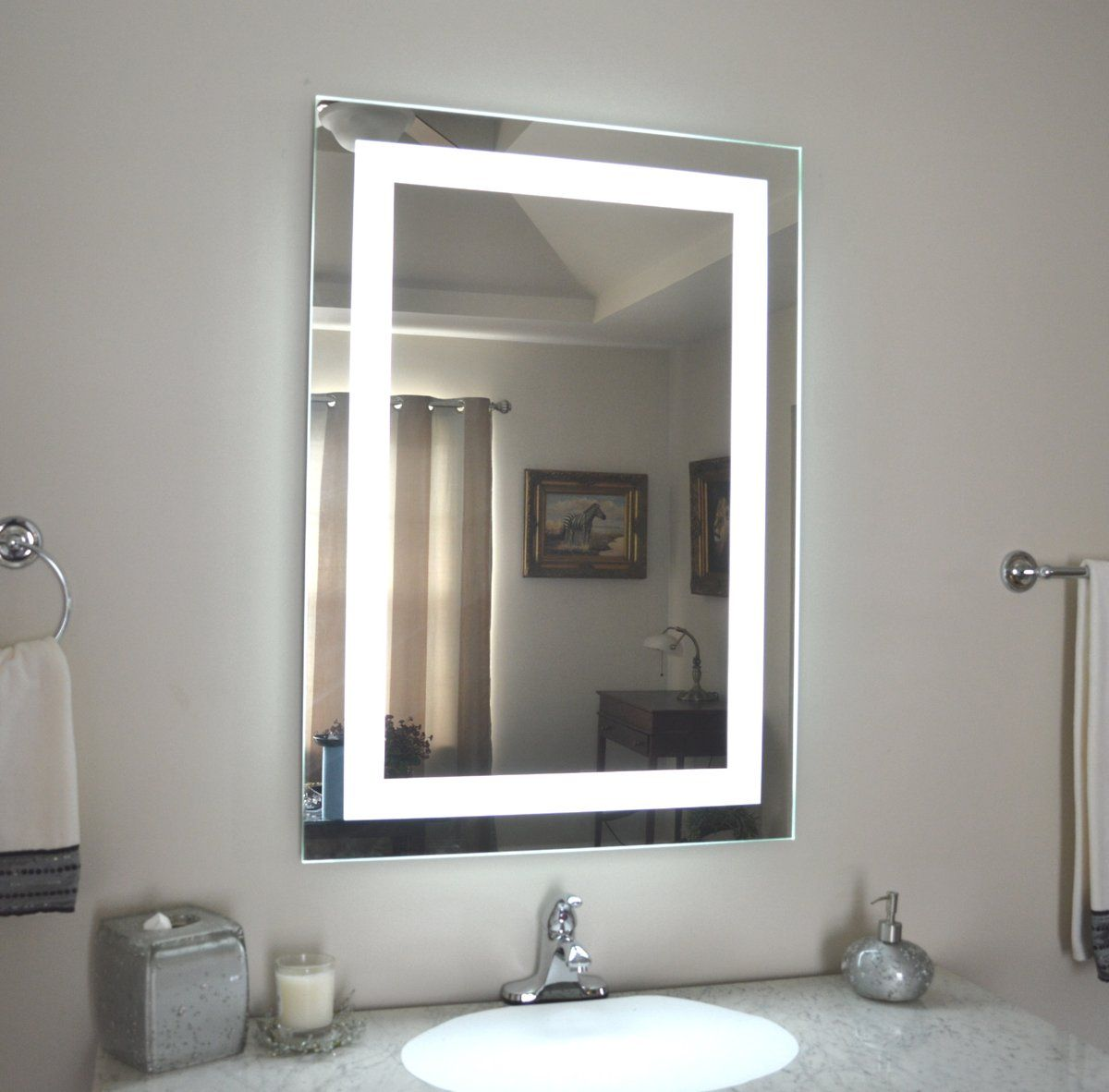 celestino lighted mirror 36x36 side view on stayed in a holiday inn rh pinterest com
