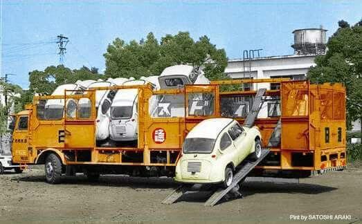 Japanese kei-car transport ..... genious