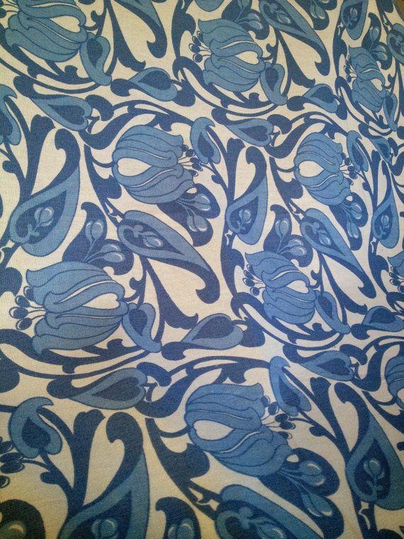 60s big retro mid century tablecloth.. Scandinavian vintage. Finlayson . kr140.00, via Etsy.
