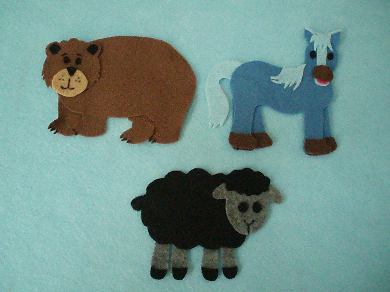 Brown Bear Brown Bear What Do You See Felt Door Jillypoocreations