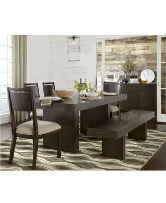 garwood dining room furniture, 6 piece set (table, 4 side chairs