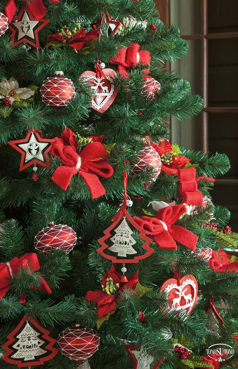 Natale tonosutono albero di natale rosso e bianco natale 2015 tonosutono pinterest - Pinterest natale ...