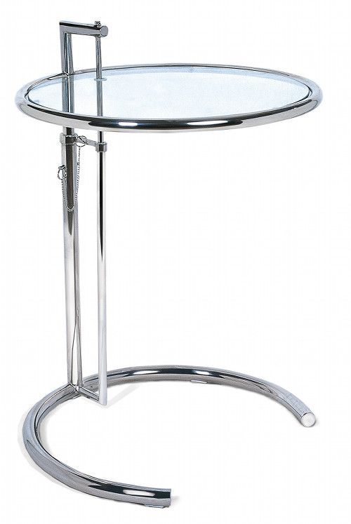 eileen gray adjustable table e 1027 the table was used at the villa e 1027 next to the bed 1927