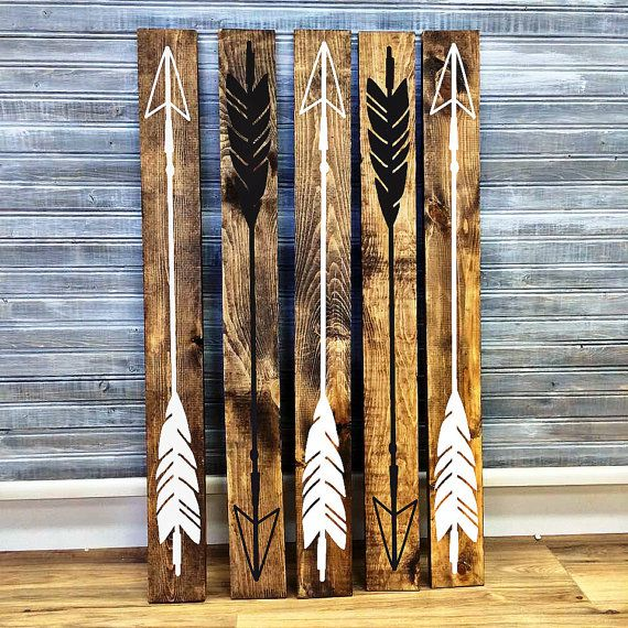 Wood Arrow Wall Decor Woodland Nursery Wall Decor Wood Home Etsy Arrow Wood Sign Arrow Wall Decor Wood Arrow