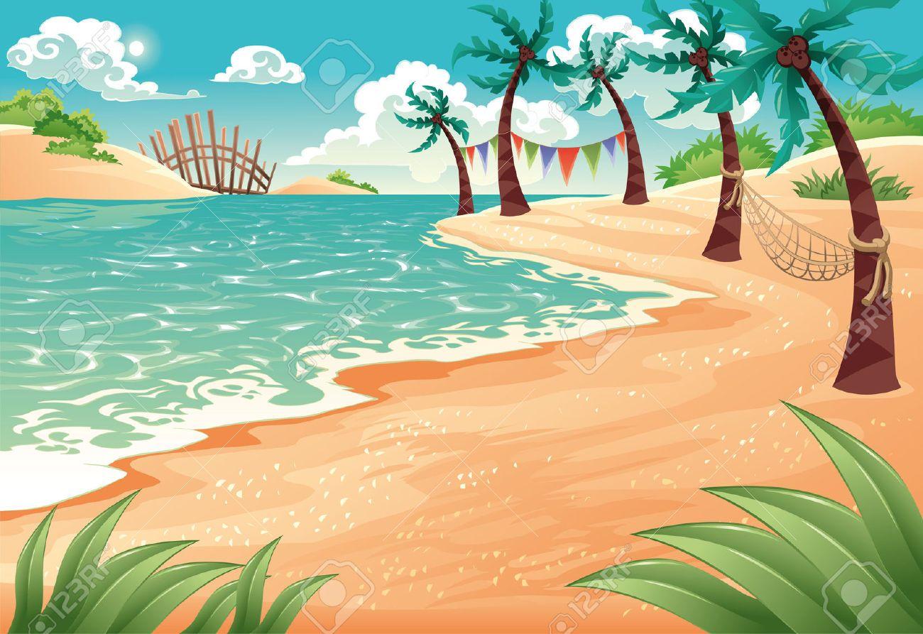 image result for cartoon scene gifts pinterest cartoon scene rh pinterest com Cartoon Beach Scene with Drinks Summer Beach Scene Cartoon