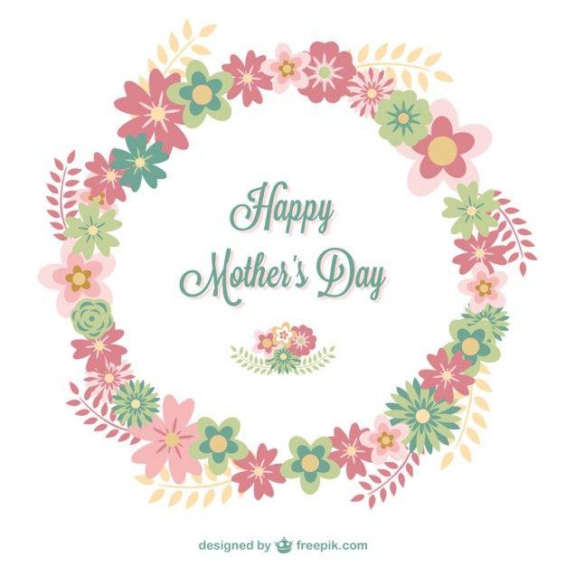 Dia cartão floral da mãe feliz | Mães, Dia de e Vetor