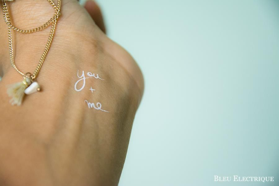 Un Beau Jour A B Inspiration Mariage Tatouage Ephemere