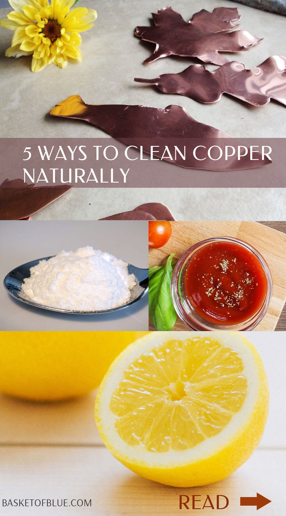5 ways to clean copper naturally how to clean copper