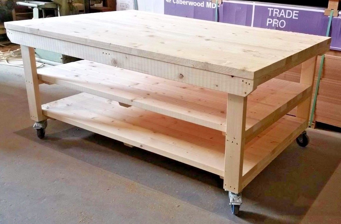 Superb Details About Workbench 4Ft Wide With Wheels Wooden Forskolin Free Trial Chair Design Images Forskolin Free Trialorg