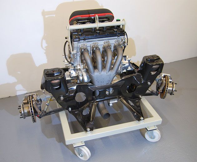 Engine and subframe ready to be installed | minidreams