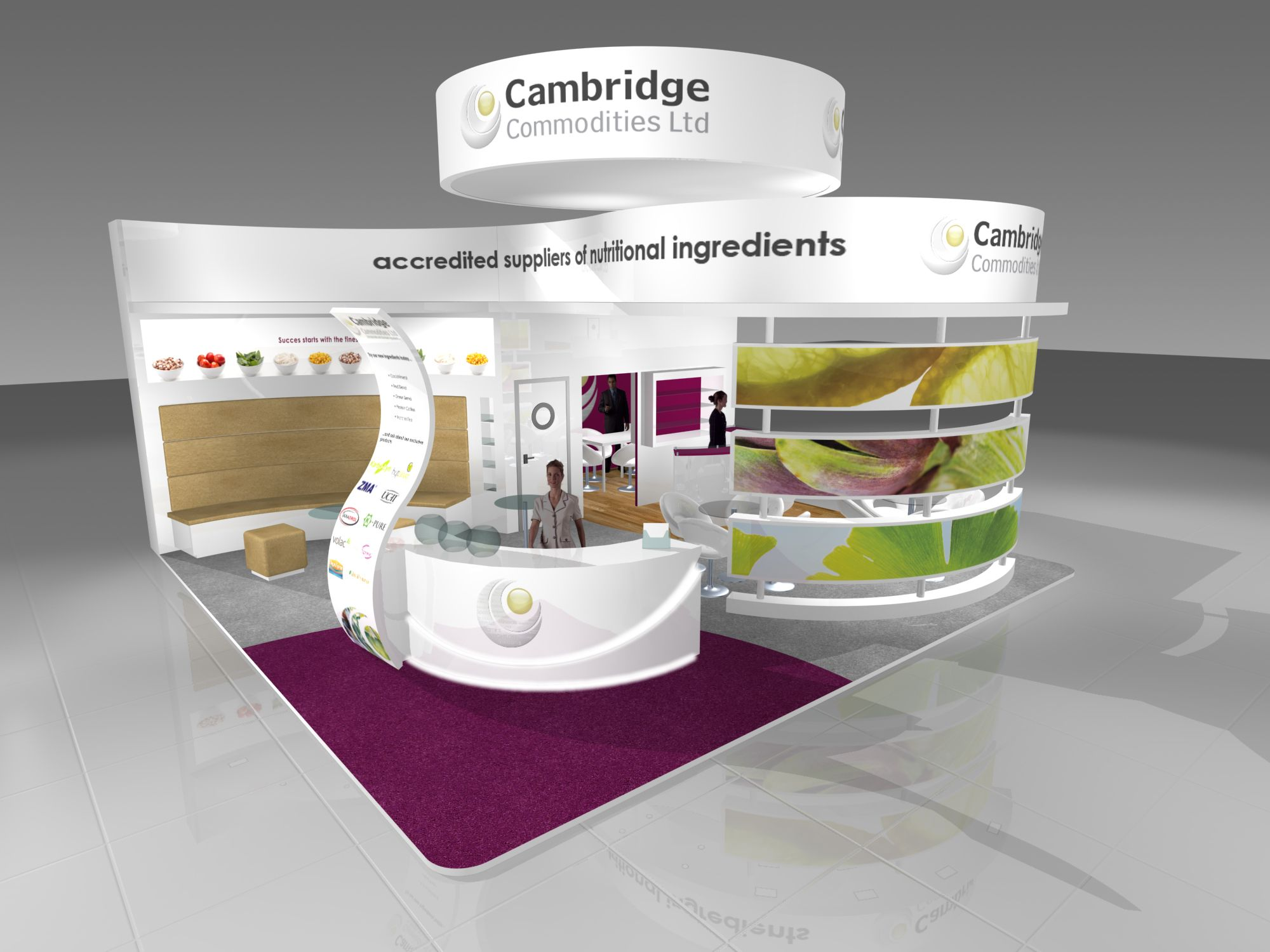 Exhibition Stand Hire Cambridge : Cambridge commodities exhibition stand design render for