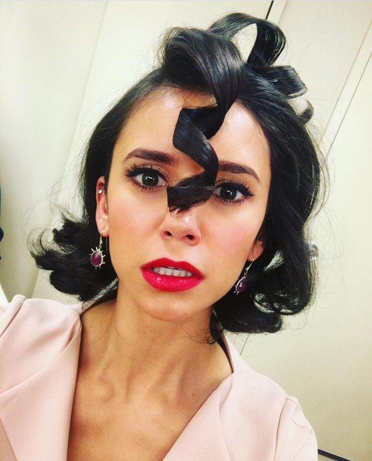 Nina Dobrev Halloween Face Makeup Celebrity Hairstyles