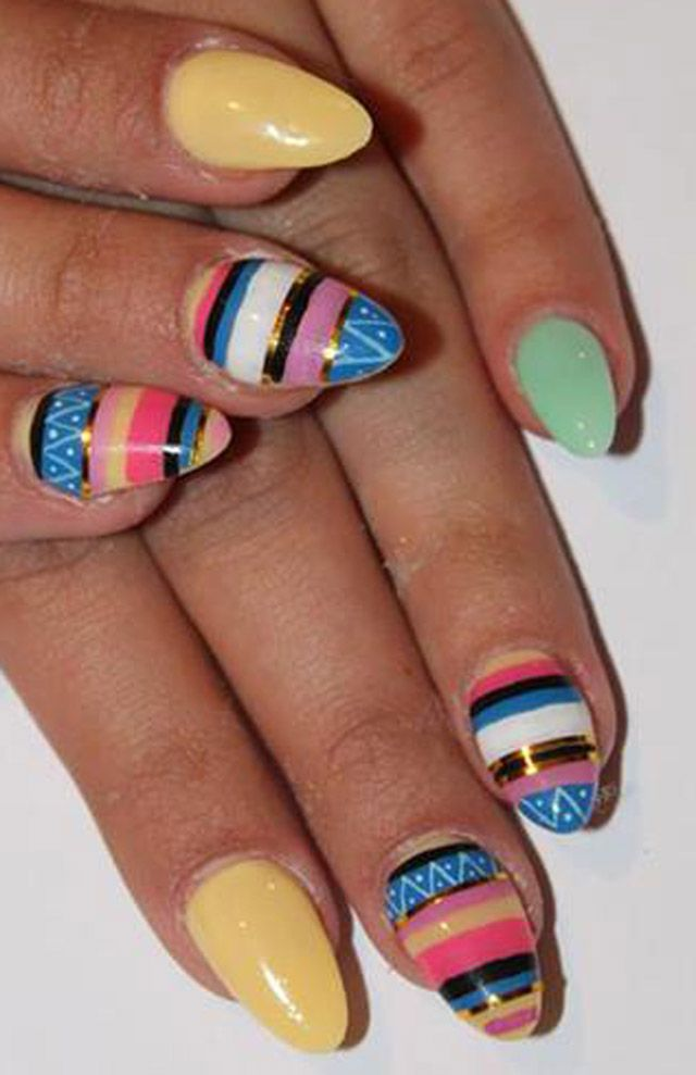 A Bit Too Much Neon One Nail To Rule Them All Art Nails