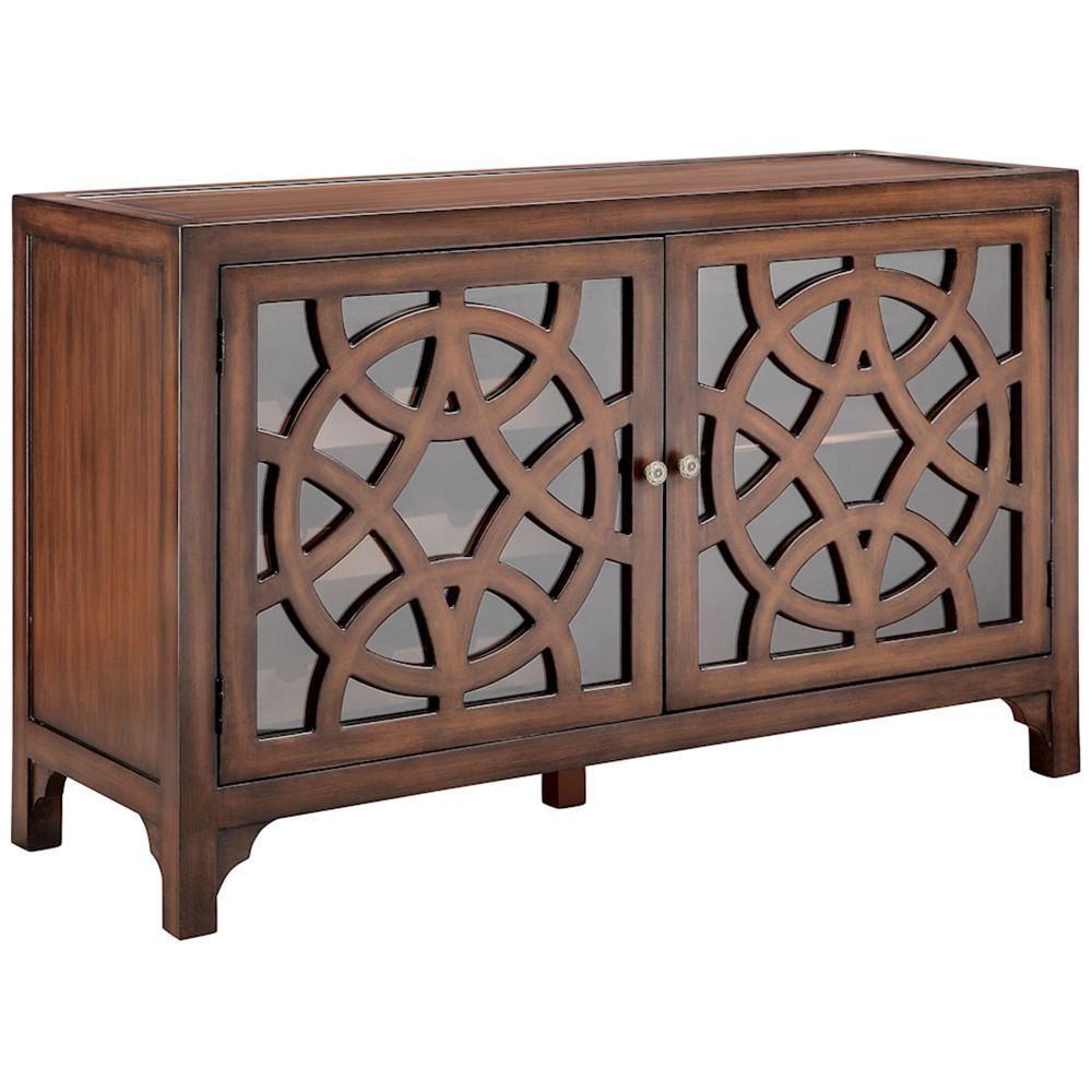 Mulan 2 Door Bar Cabinet In Chestnut Furniture Dining