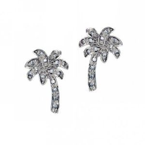Bling Jewelry Sterling Silver Pave CZ Palm Tree Earrings.  List Price: $62.99  Sale Price: $29.99  Savings: $33.00