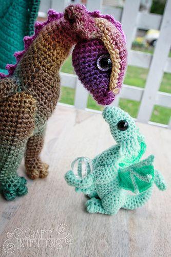 Newborn Dragon pattern by Megan Lapp #crochethooks