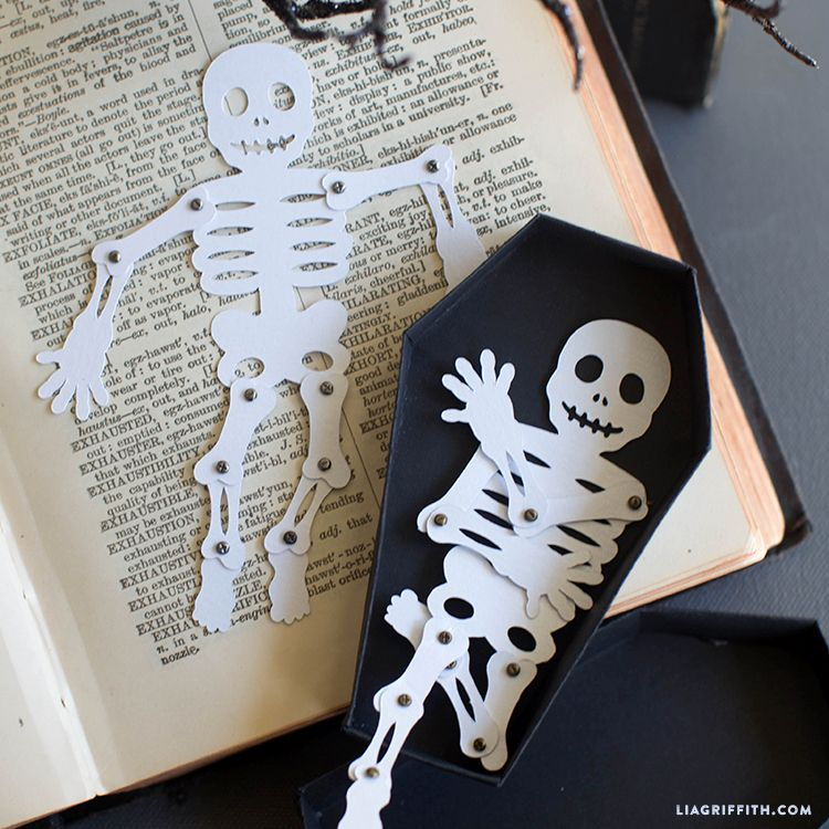 Make your own Mr Paper Bones for Halloween using this downloadable pattern from handcrafted lifestyle expert Lia Griffith.