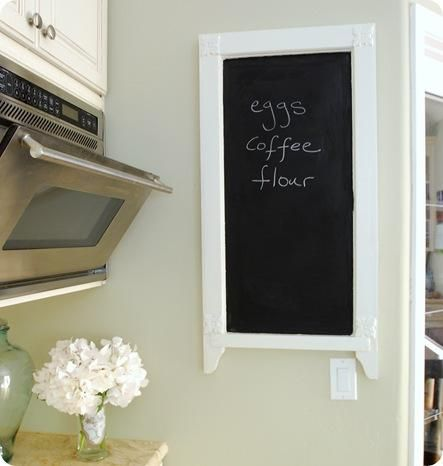 DIY Chalkboard For Your Kitchen From Salvaged Items Mirrors Windows Anything With A Flat Surface Works