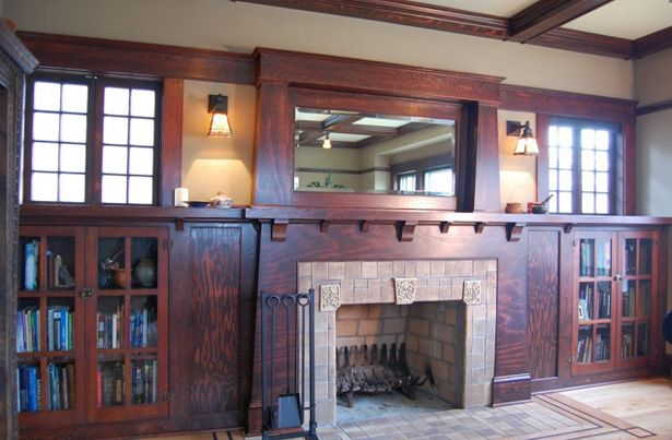 Craftsman Style Fireplace #craftsmanstylehomes