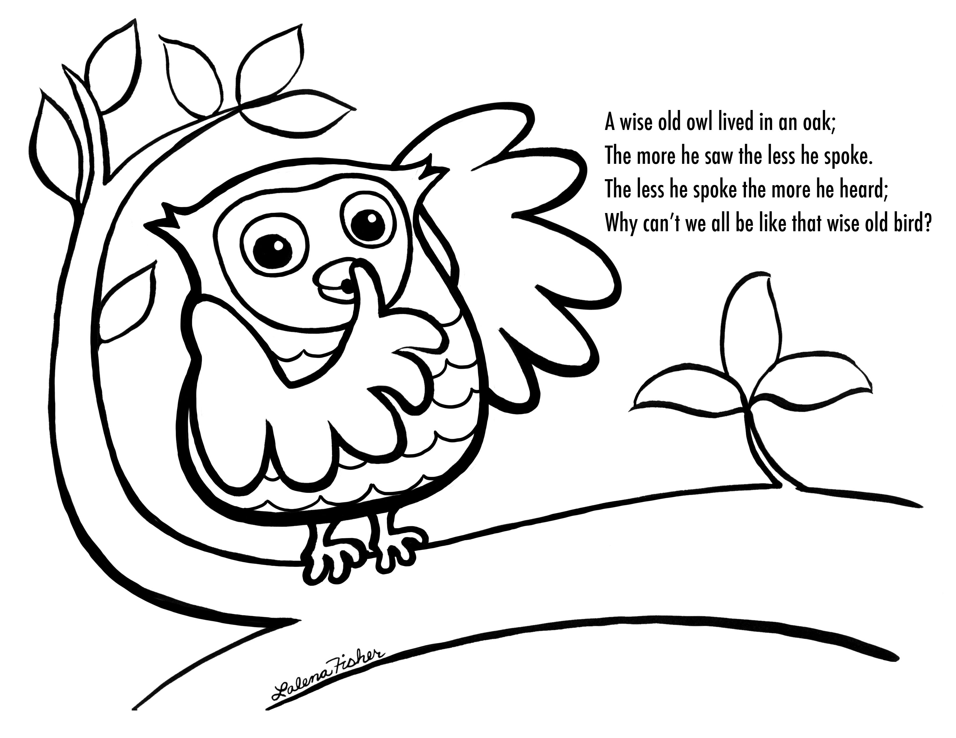 Girl Owl Coloring Pages For Toddlers