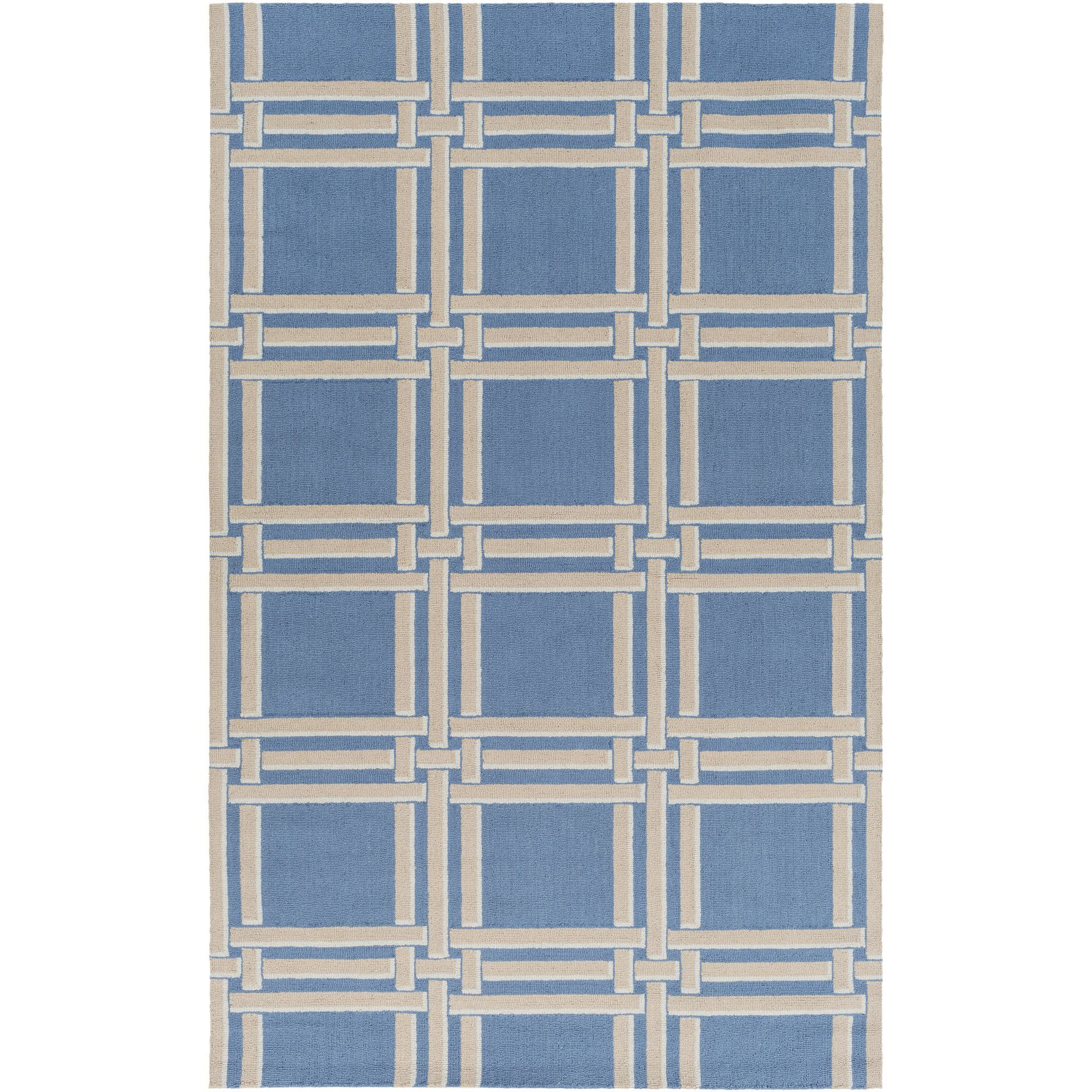 greenbright trellis dark modern wilson lattice fl rug handknotted blue accent bright area teal calipso