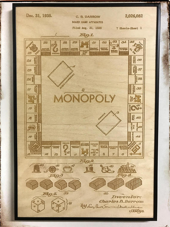Monopoly patent artwork laser cut patent monopoly blueprint monopoly patent artwork laser cut patent monopoly blueprint malvernweather Choice Image