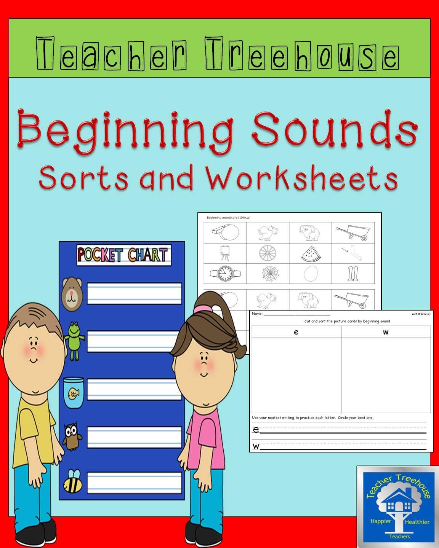 Beginning Sounds Sorts | Literacy, Kindergarten and Language arts