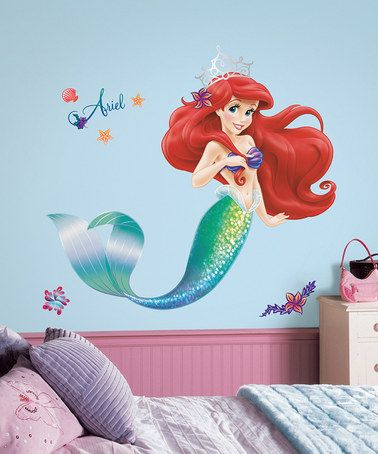 Look what I found on #zulily! The Little Mermaid Ariel Giant Decal Set #zulilyfinds