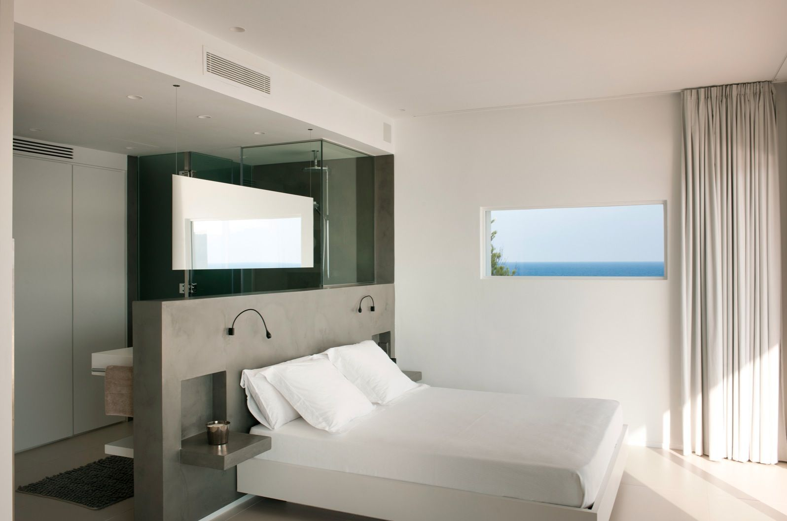 Open Plan Bathroom And Bedroom Designs