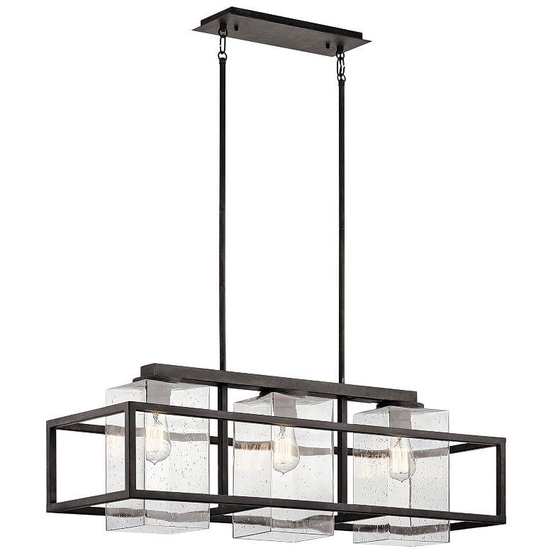 Wright 36 Wide Zinc Outdoor Kitchen Island Light Chandelier 20e34 Lamps Plus In 2020 Outdoor Chandelier Contemporary Kitchen Island Lighting Linear Chandelier