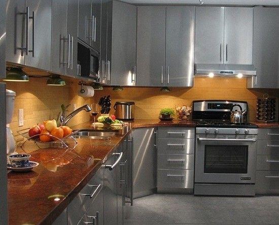 Cuisine finie en acier inoxydable que ce soit pour le for Dosseret cuisine inox