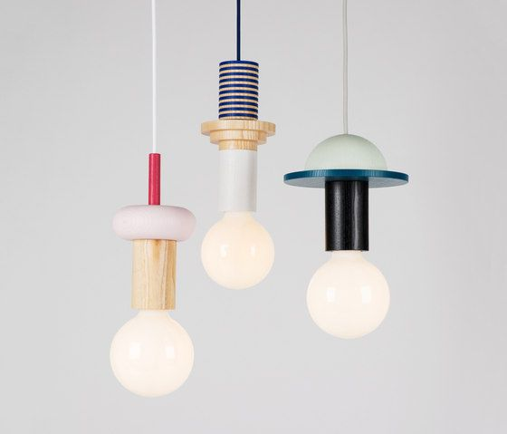 Junit is a modular pendant lamp that consists of 8 different elements. The very pure and clear unitsare turned from high-quality ash wood and painted in a German Workshop, not far away from our own st…