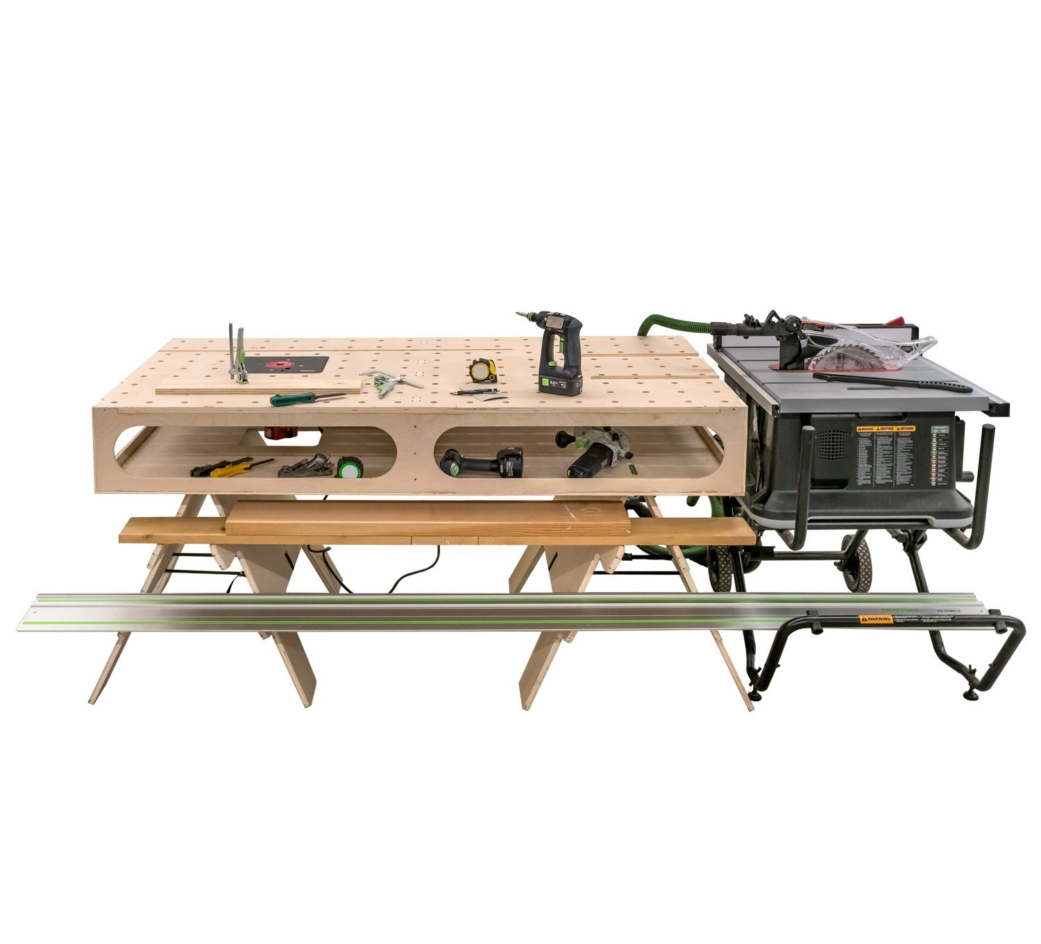 new! the paulk compact workbench 3x6 plans | wood working