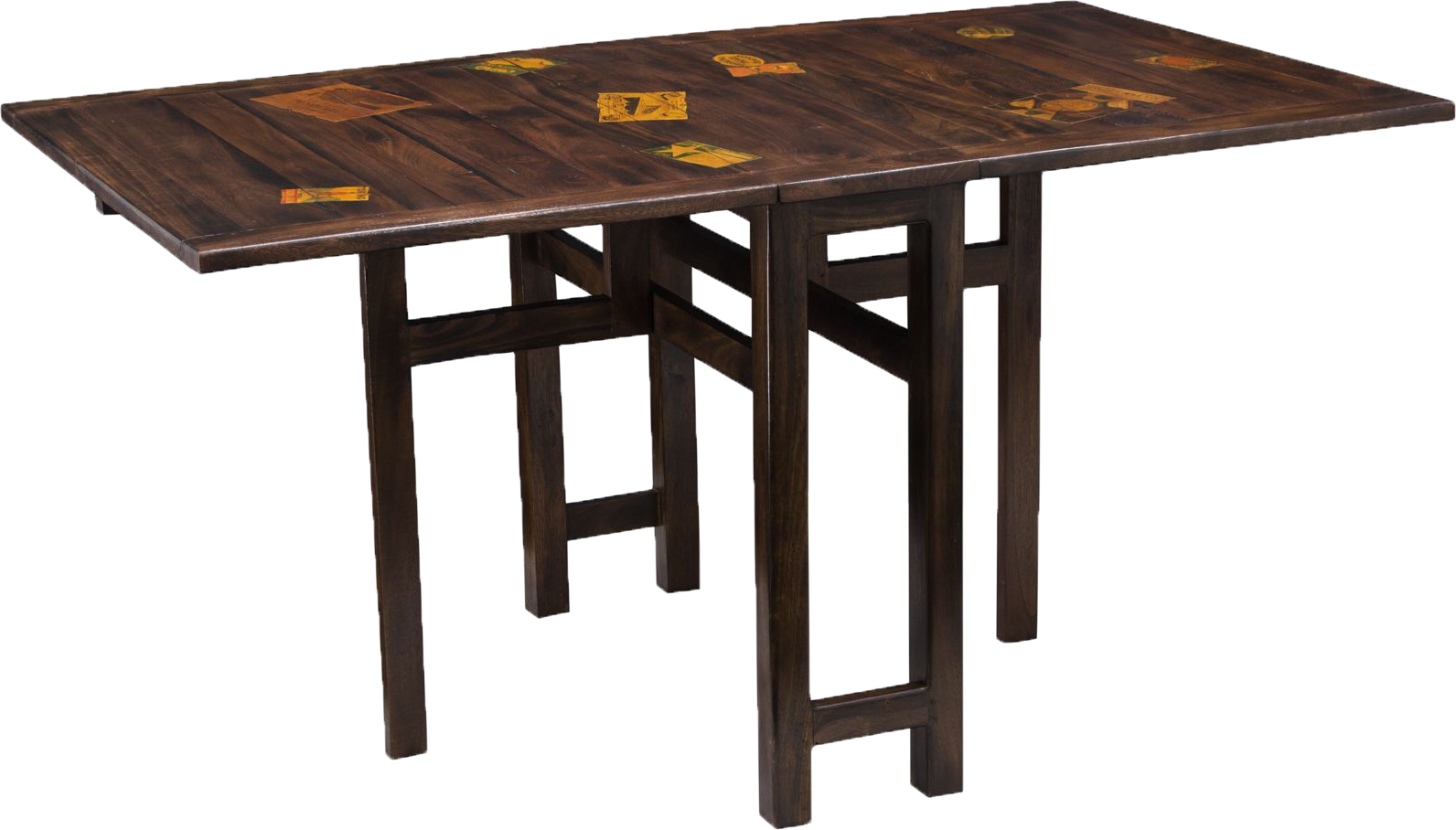 Travel Stamped Mango Metal Collapsable Dining Table
