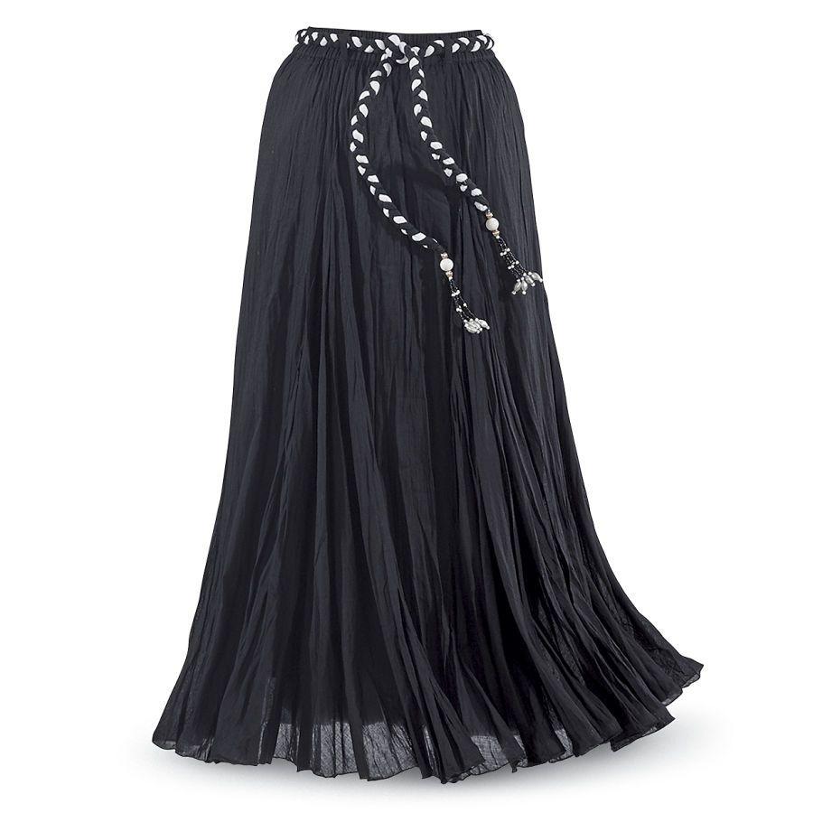 Crinkle-Gauze Maxi Skirt - Women's Clothing & Symbolic Jewelry – Sexy, Fantasy, Romantic Fashions