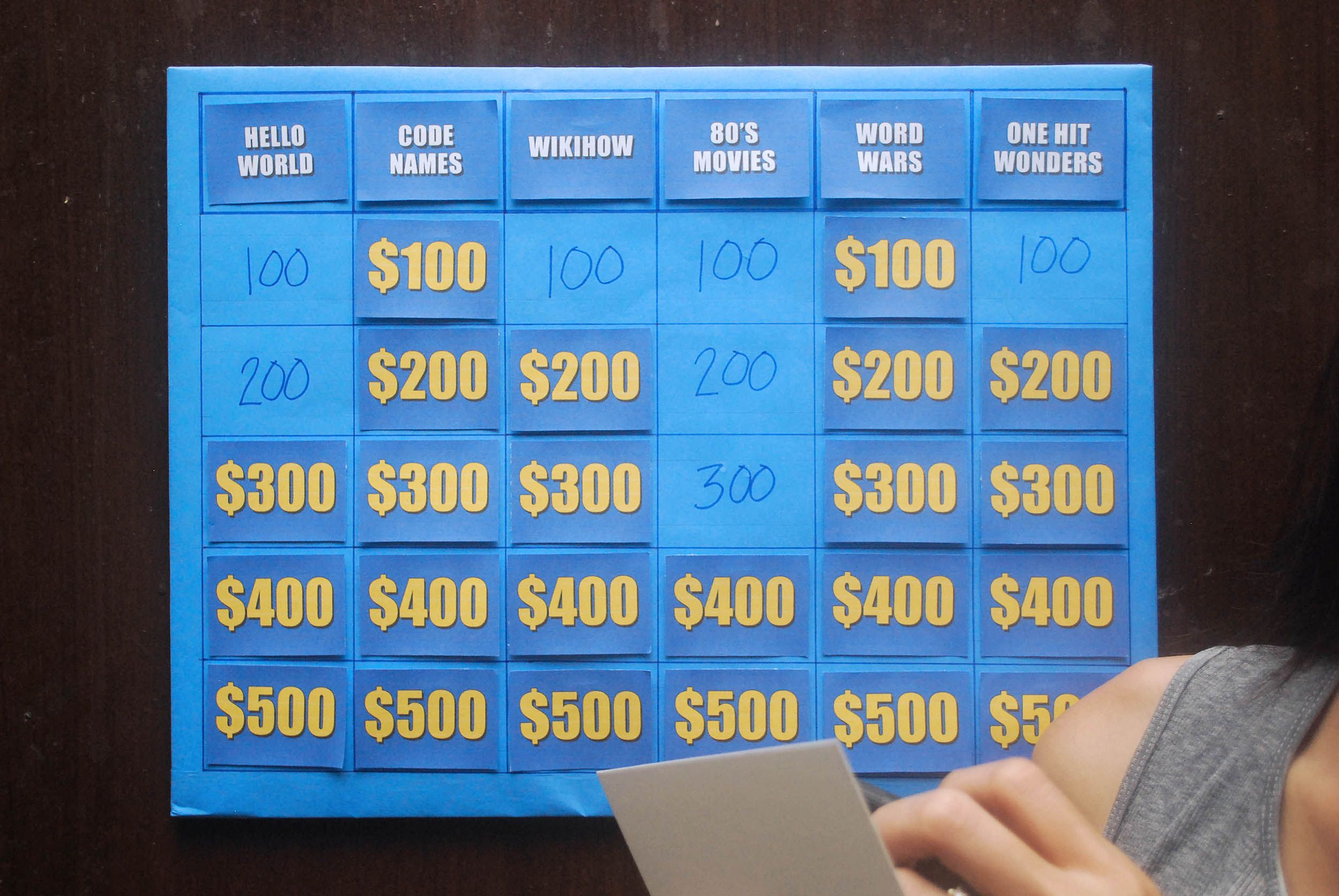 Make A Jeopardy Game Gaming