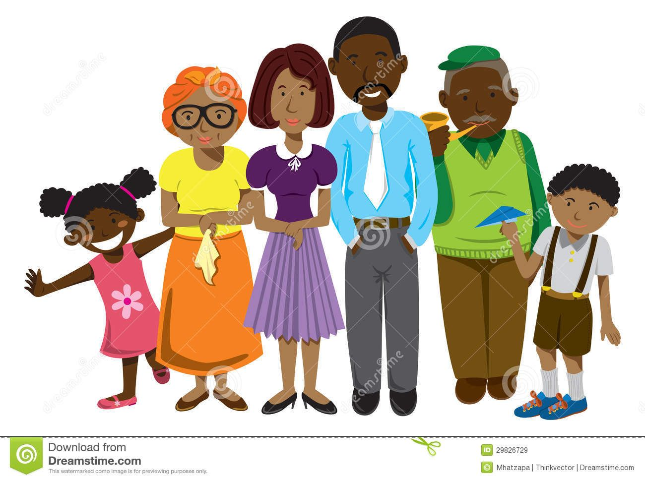 african american family clip art african american family royalty free stock images image 29826729 [ 1300 x 970 Pixel ]