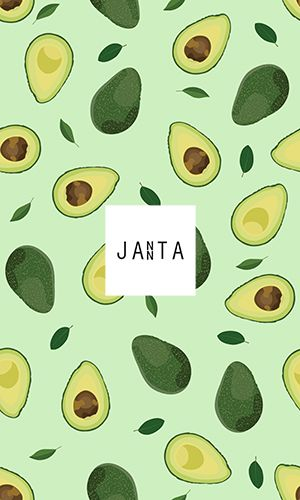 Seamless pattern whole and sliced avocado on bright green