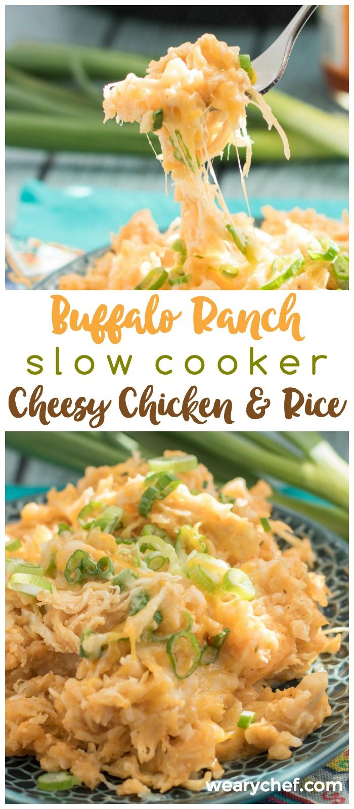 This Buffalo Ranch Crockpot Chicken and Rice might be your new favorite slow cooker dinner recipe!