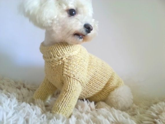 Pastel Dog Sweater. Handmade Dog Clothes. Pet Clothing. Hand Knit ...