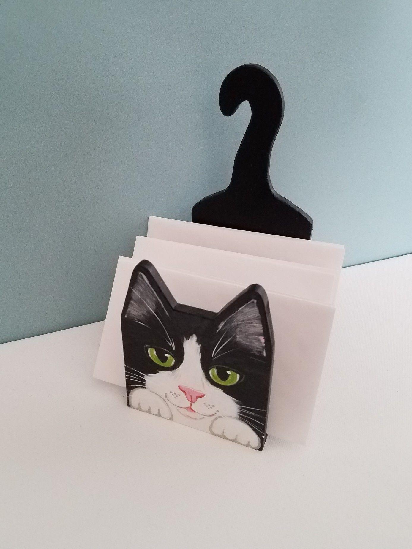 Cat Desk Organizer In Stock Or Custom Available Cat Memorial Gift Unique Items Products Custom Cat Portrait
