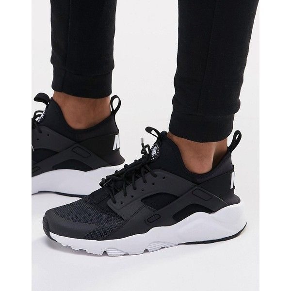 meet 78704 7703d Nike Air Huarache Run Ultra Trainers In Black 819685-001 ( 130) ❤ liked on Polyvore  featuring men s fashion, men s shoes, men s sneakers, black, mens black ...